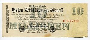 Old-Germany-10-Million-Mark-Reichsbank-Note-Dated-1923-German-Inflation-Money