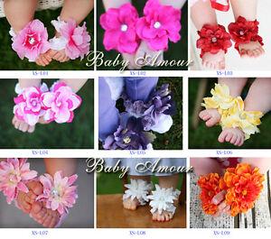 Newborn-Baby-Cute-Flower-Infant-Girl-feet-Toddler-Barefoot-Blooms-Sandals-Shoes