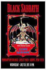 Black Sabbath &  Alice Cooper Manhattan College Bronx NY Poster 1971 24x36 SIZE
