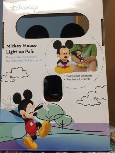 DISNEY PARKS MICKEY MOUSE CLUBHOUSE T7 MICKEY LIGHT-UP PALS,TALKING FLASHLIGHT
