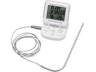 Polder THM-362-90 Digital In-Oven Probe Thermometer/Timer, White