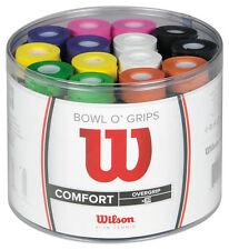 Wilson Bowl O Grips Tennis Squash Badminton Racquet Racket Overgrip 50 Pack