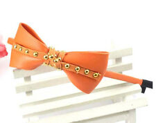 ConMiGo London HT030012 Orange Leather Headband