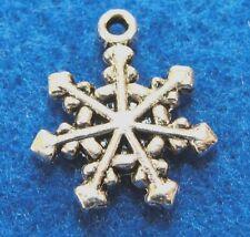 10Pcs. Tibetan Silver SNOWFLAKE Charms Earring Drops Pendants Findings CH29
