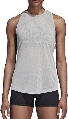 GemäßIgt Adidas Magic Logo Womens Training Vest Tank Top - Grey Ausreichende Versorgung