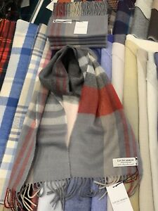 100-Lambswool-tartan-Scarf-by-Lochcarron-Grey-Check-Made-in-Scotland
