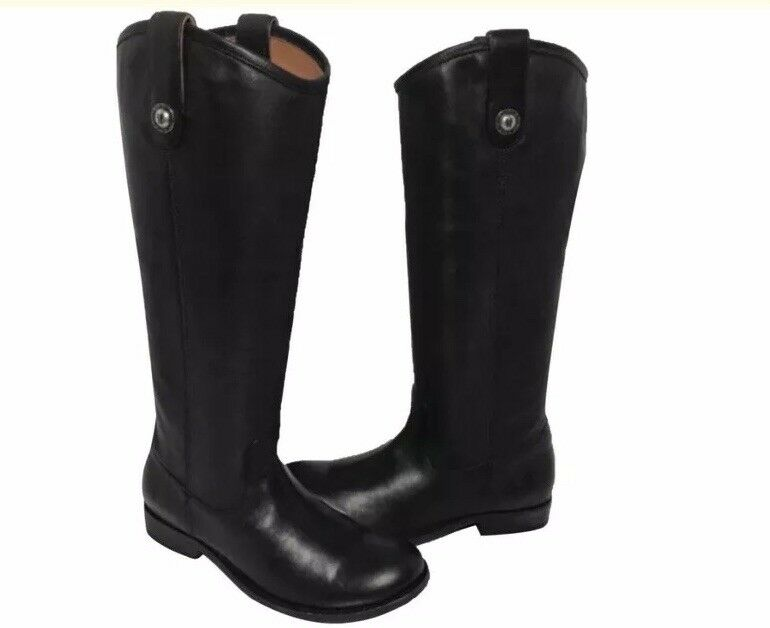 Frye melissa button Leather Riding tall Women's boots new