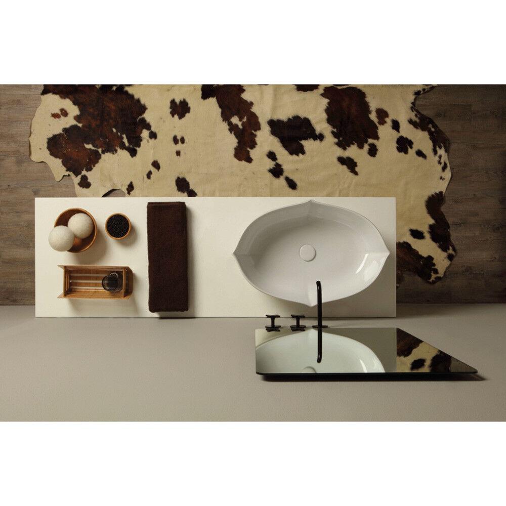 Lavandino Lavabo da appoggio Moderno Serie Oyster in ceramica in 4 decori