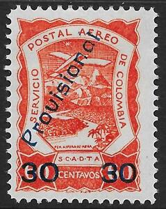Colombia stamps 1921 YV Airmail 42 signed MLH VF