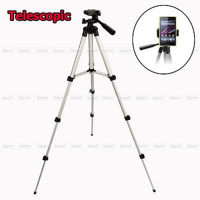 Universal Telescopic Camera Tripod Stand Holder Mount For Phone iPhone Nikon DV