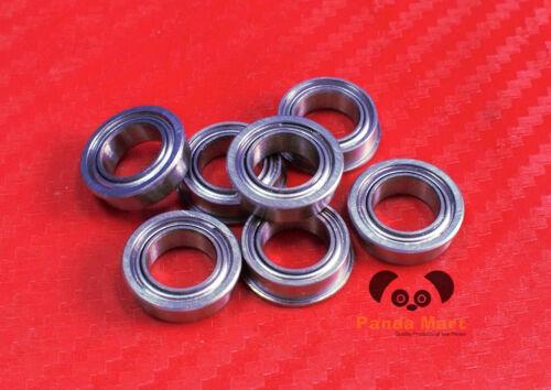 6x10x3 mm SMF106zz Stainless Flanged Ball Bearings MF106zz 6*10*3 10 PCS
