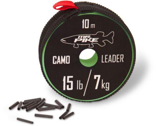 Mr 1,00 €//m Pike Camo Coated Leader Material Stahlvorfach Stahl Vorfach Steel
