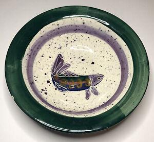 VTG-1995-Julie-Ueland-Backsplash-Of-White-Salmon-WA-Stoneware-Fish-Bowl-9-25-034