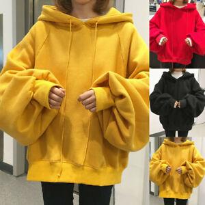 UK Womens Winter Hoodies Sweatshirt Ladies Hooded Sweater Coat Jumper Pullover