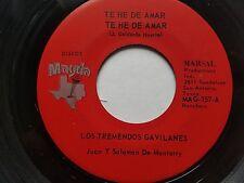 """LOS TREMENDES GAVILANES - Te He De Amar / Ayer Feliz 1970's RANCHERA LATIN 7"""""""