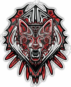 "6/"" native american jaguar indian tribe car sticker decal usa made"