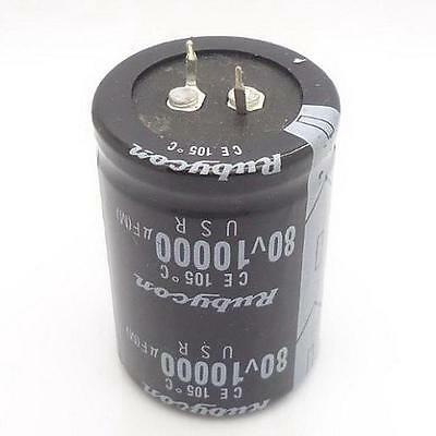 1PC AUDIO Electrolytic Capacitor PANASONIC 105 drgee 35*50mm 10000UF 80V