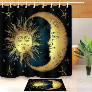Image Is Loading Boho Chic Sun Crescent Moon Amp Stars Shower