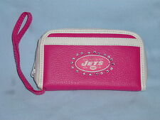 New York NY JETS   Womens/Girls  PINK FASHION WALLET with Rhinestones  NEW!