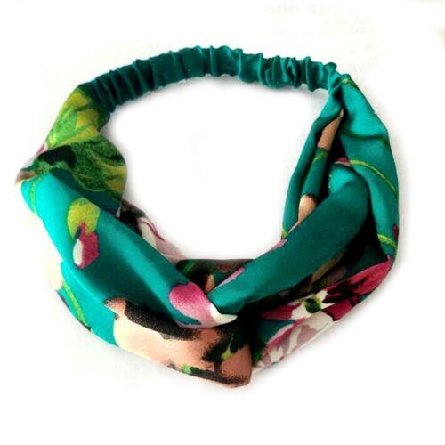 Femme Twist Knot bandeau Banana Leaves Leaf cheveux fleur accessoires Royaume-Uni