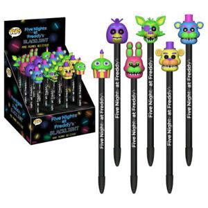 Five-Nights-at-Freddy-039-s-Black-Light-Pop-Pen-Topper-Assortment-Set-of-16-NEW