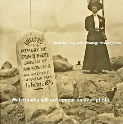 Old wild west 1876 funny weird strange mountain rat grave stone tombstone photo ebay - Wild west funny ...