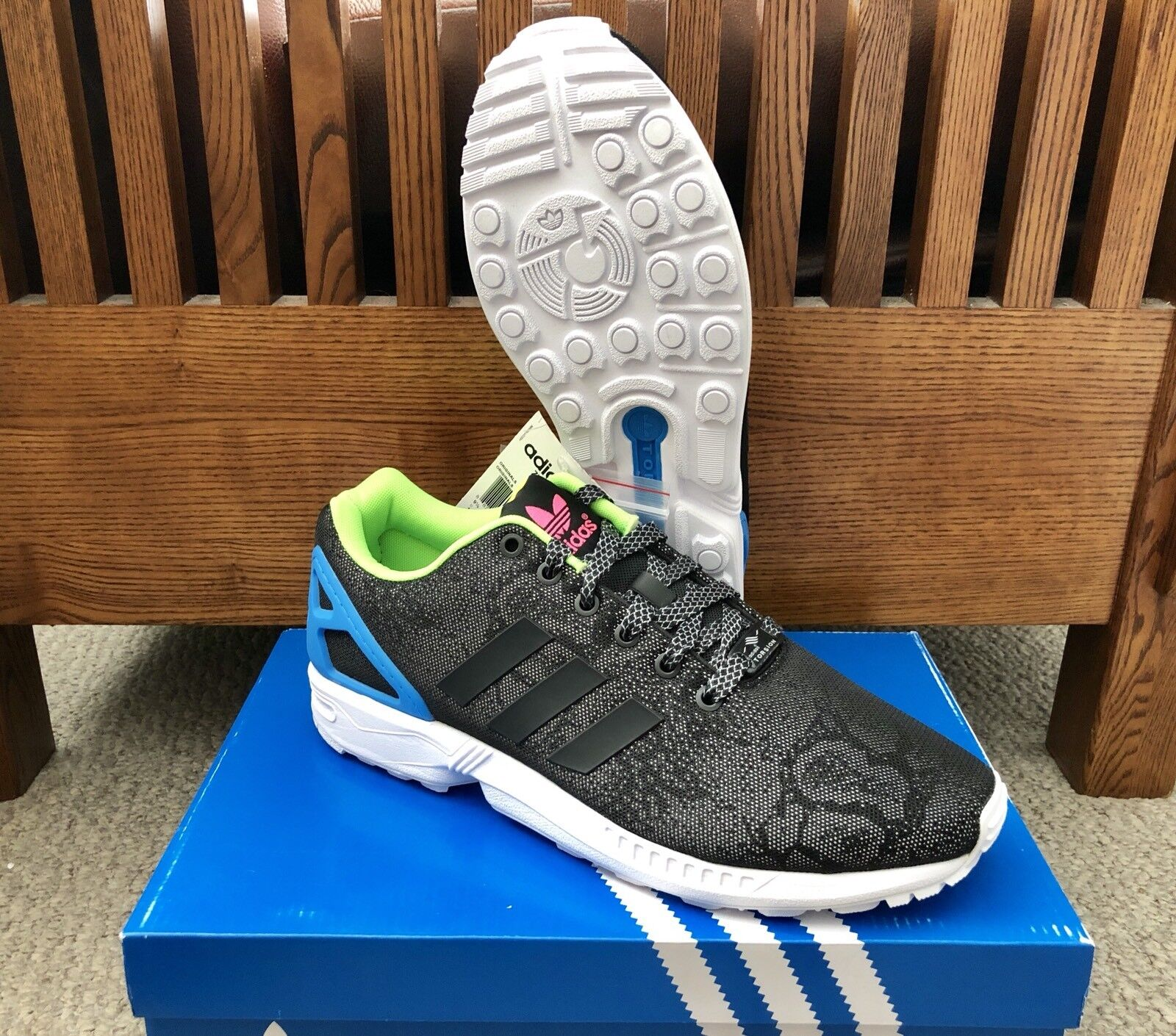 "Adidas ZX Flux 3M ""Reflective"" Running shoes M21310 NEW Size 10"
