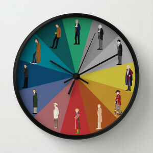 12inch doctor who wall clock whovian wall clock ebay. Black Bedroom Furniture Sets. Home Design Ideas