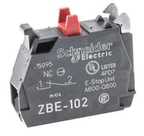 SCHNEIDER 1NC contact block for pushbuttons ZBE102 Pack of 10