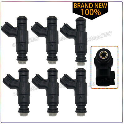 6X OEM 5L2Z9F593CA fuel Injector For 06-10 Ford Ranger Mustang Explorer 4.0L V6