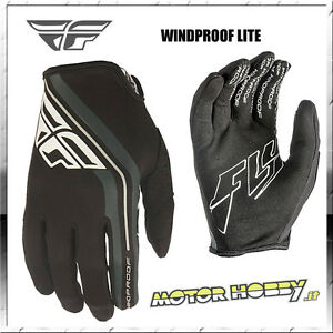 GUANTI-OFF-ROAD-CROSS-ENDURO-MTB-QUAD-FLY-WINDPROOF-LITE-NERO-TAGLIA-XXL