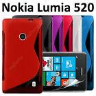 Housse Coque Etui Pochette S Line Silicone Gel Case Cover Nokia Lumia 520 521