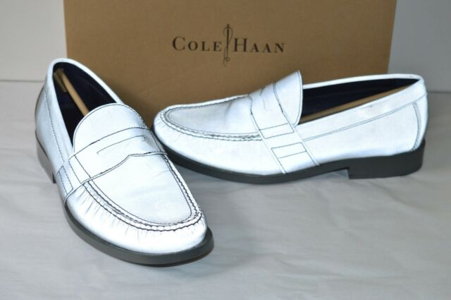 4c9cefef2cd New  198 Cole Haan Air Monroe Penny Silver Reflective Silver Loafer sz 10  RARE