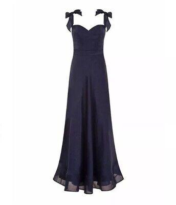 Kleider B290# Chi Chi Bardot Bow Detail Maxi Dress Size Uk8 Rrp£68 Attraktiv Und Langlebig Damenmode