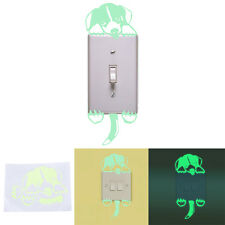 1 Pcs Puppy Luminous Switch Wall Sticker Cartoon Dog Kids Bedroom Decal Decor WS
