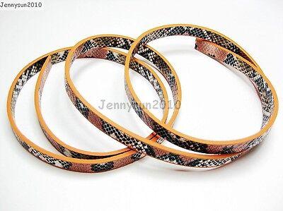 PU Leather Snake Skin Print Belt Band For Diy Making Wristband Waistband & More