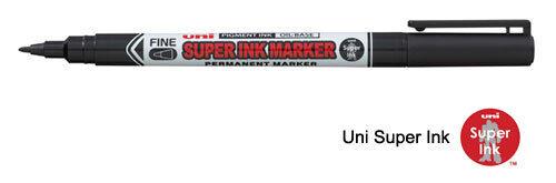 Uni Ball Super Ink Marker Black Permanent Cd Dvd Fabric Laundry Marker Pen