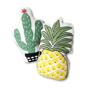 New-Pineapple-Cactus-Shape-Plush-Pillow-Throw-Waist-Cushion-Home-Decors-UK-STOCK