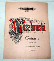 MOSZKOWSKI - Guitarre Opus 45 No.2 - Violine und Klavier