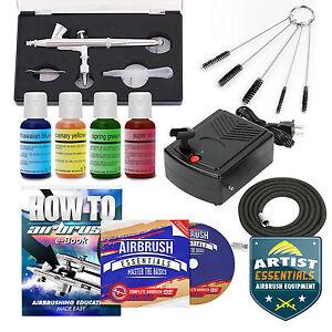 Cake Decorating Airbrush Kit : Cake Decorating Airbrush Kit Gravity Feed Gun Air ...