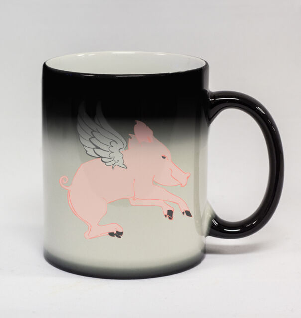 Flying Pig II #226-11oz Color Changing Coffee Mug Hell Freezing Money Tree