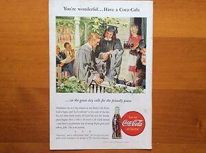 Details about 1940's Original Coca-Cola Magazine Ad American Coke  Graduation Gowns