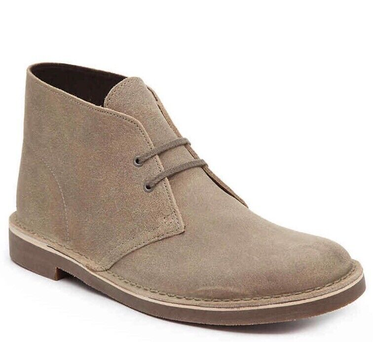 Clarks Mens Suede Boots Tan color 10.5 Genuine Suede New Other