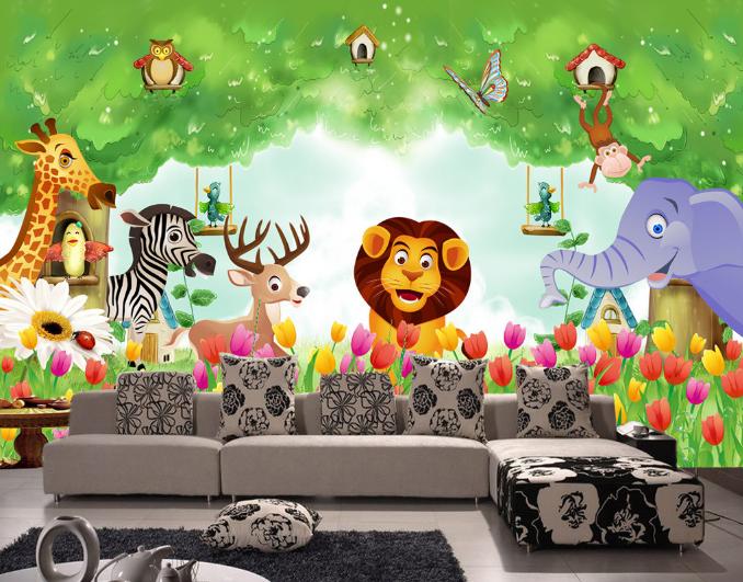 3D Animals Garden 999 Wall Paper Murals Wall Print Wall Wallpaper Mural AU Kyra