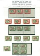 """Trengganu """"Independence"""" - Sultan Ismail 1957 $2 & $5 Exhibition Piece"""