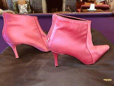 pink high heel booties