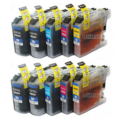 Lic-Store Compatible Ink Cartridges Brother LC-207 LC-205 XXL Used for Brother MFC-J4320DW,MFC-J4420DW,MFC-J4620DW,MFC-J5520DW,MFC-J5620DW MFC-5720DW 2BK 1C 1Y 1M 5PK