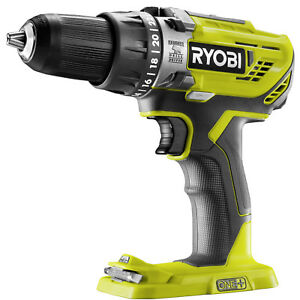 Details about Ryobi ONE+ HAMMER DRILL R18PD3-0 18V 2-Speed Gearbox, LED  Work, Skin Only