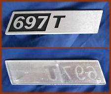 FIAT AUTOCARRO 697 T - SCRITTA IN ALLUMINIO LOGO BADGE