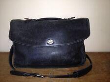 Vintage COACH 5265 Lexington Black Leather Briefcase Business Laptop Messenger